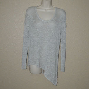 Sz P/S Helmut Lang Intermix Gray Knit Sweater